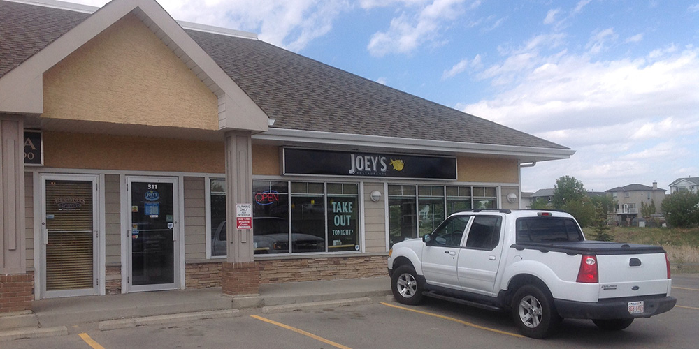 The exterior at Joey's Airdrie