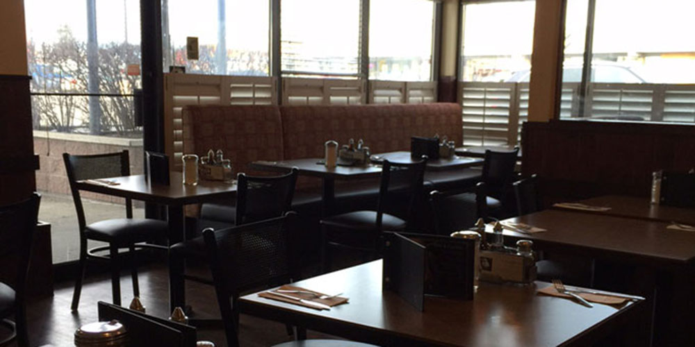 Spacious seating at Joey's Macleod Trail