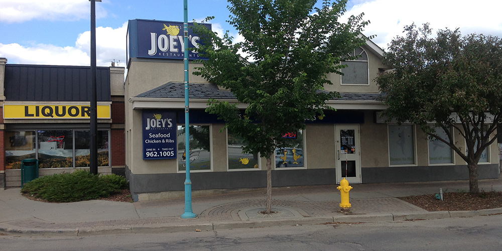 The view from outside the Spruce Grove Joey's