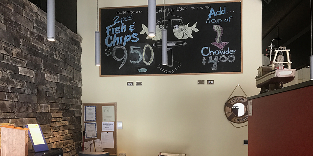 Our Joey's McPhillips Chalkboard Specials
