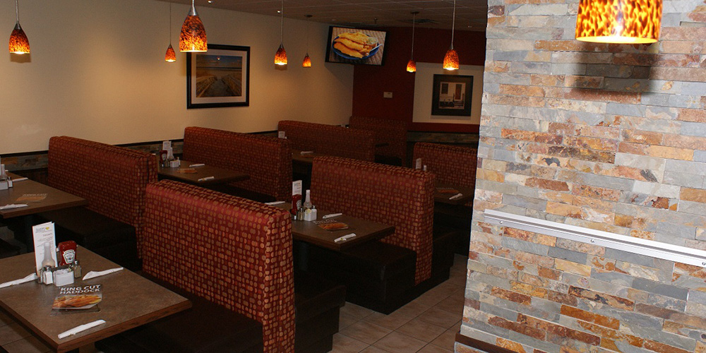 Booth seating throughout at Joey's North Bay
