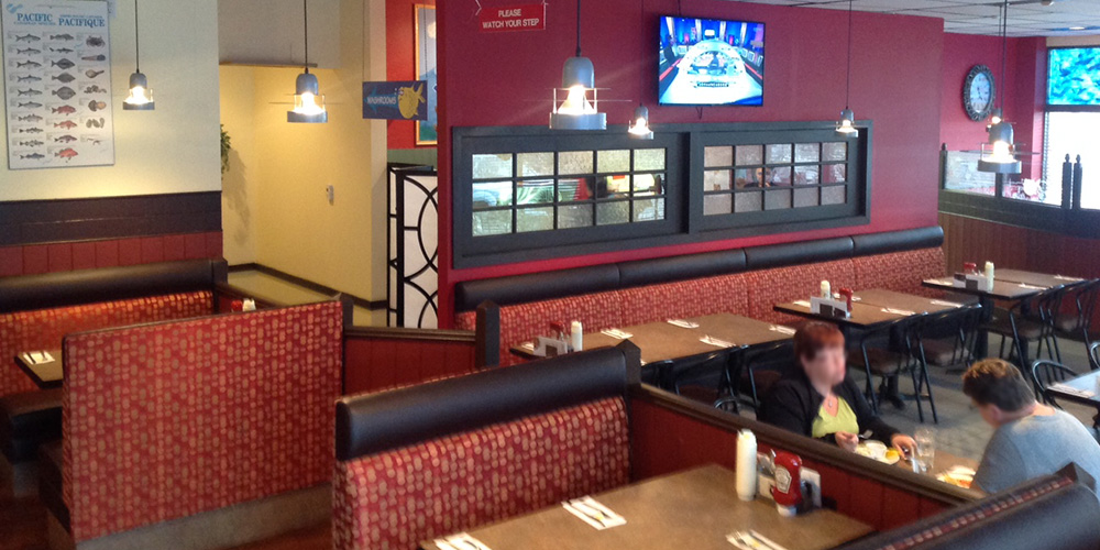 Spacious seating at our Joey's Worobetz location