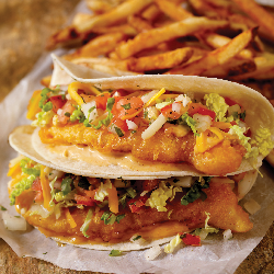 Our new rave hit, Joey's Fish Tacos